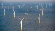 Offshore-Windpark Butendiek vor Sylt