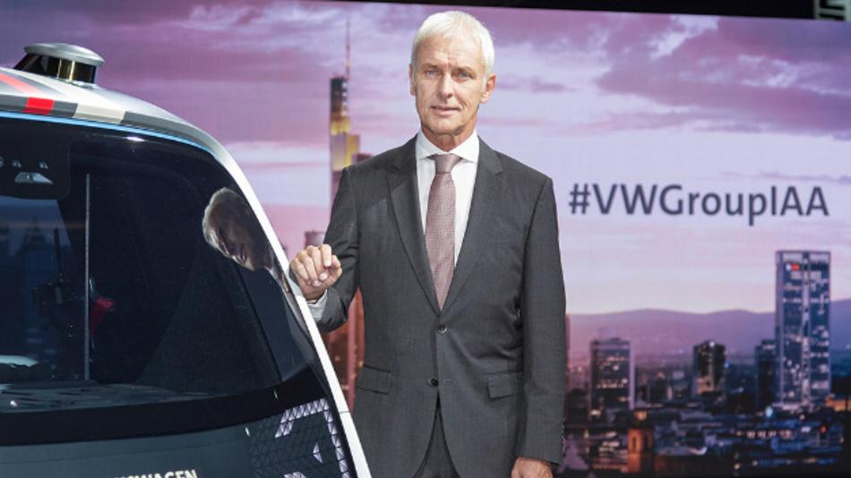 Vorstandschef Matthias Müller beim Konzernabend zur internationalen Automobil-Ausstellung (IAA) in Frankfurt.