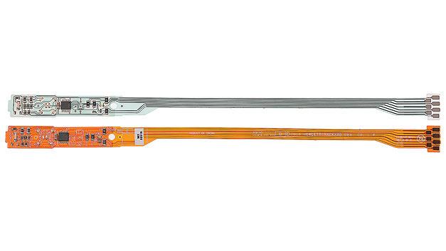 Bild 1. Gedruckte Silbertinte auf Polyester-Substraten wird seit längerem für elektrische Leiterbahnen in Bedienfeldern und Folientastaturen verwendet.