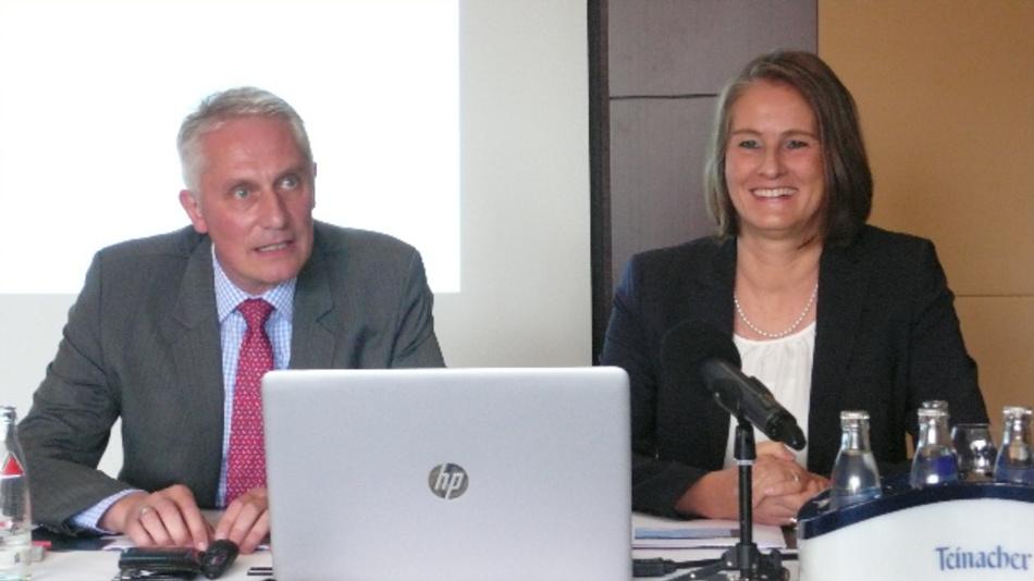 Martin Roschkowski und Sylke Schulz-Metzner auf der Vorpressekonferenz zur SPS IPC Drives 2017.