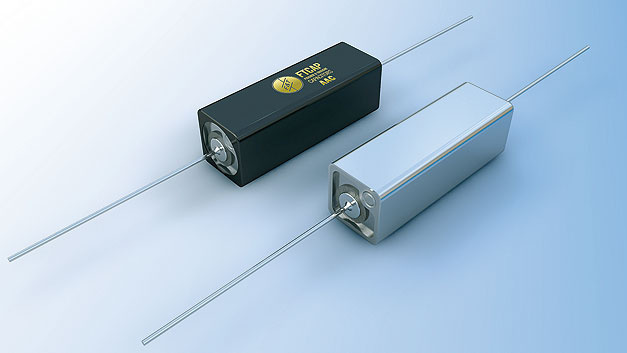 Bild 1. Kubische axiale Kondensatoren gewinnen durch ihre vergrößerte Oberfläche verbesserte thermische Eigenschaften.