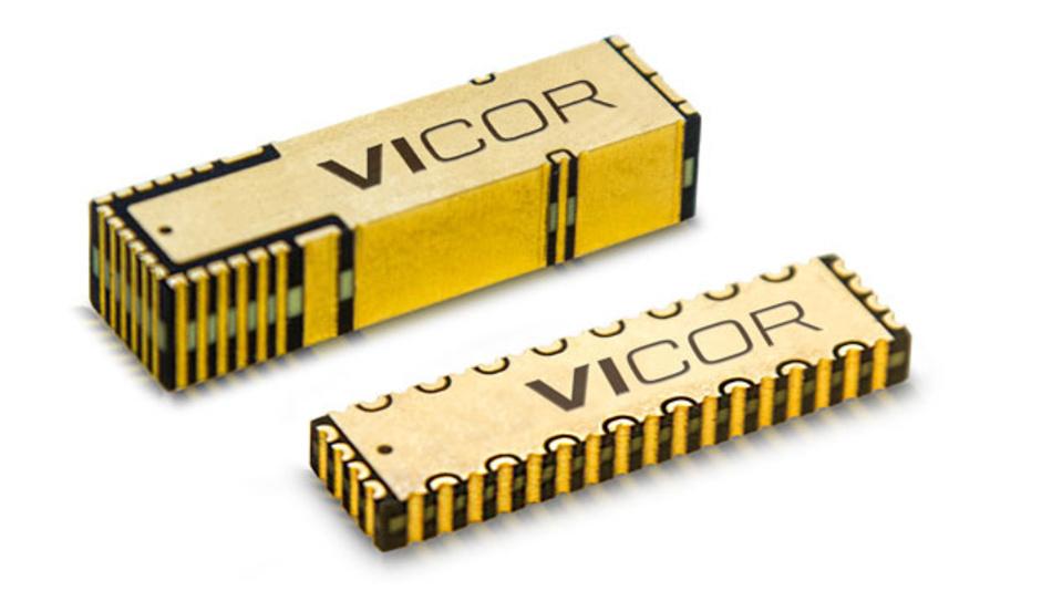 Die neue zweiteilige Stromversorgung von Vicor aus MCD (oben) und MCM (unten) versorgt Prozessoren effektiver als bisher.