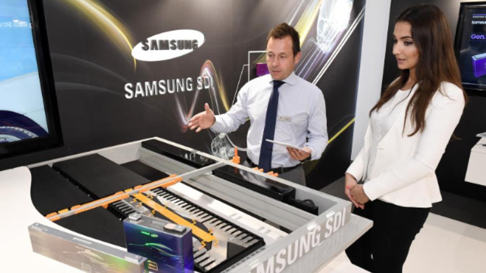 Samsung SDI präsentiert auf der IAA unter anderem das modulare Batteriekonzept.