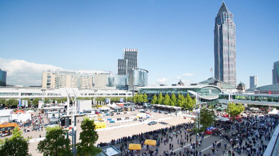 Außengelände der 67. IAA 2017 in Frankfurt.
