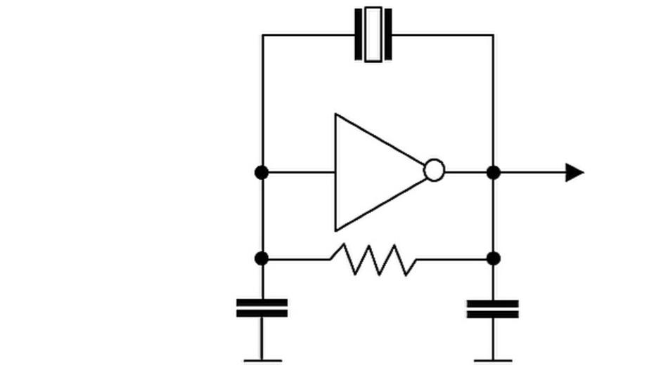 Ersatzschaltbild eines Pierce-Oszillators