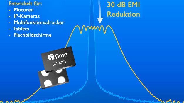 Über den weiten Frequenzbereich von 1 bis 141 MHz programmierbar sind SiTimes stoß- und vibrationsfeste SSXOs der Serie SiT9005.