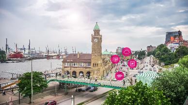 Die Stadt Hamburg weiß künftig jederzeit über die Parksituation in der Innenstadt und den verschiedenen Bezirken Bescheid.