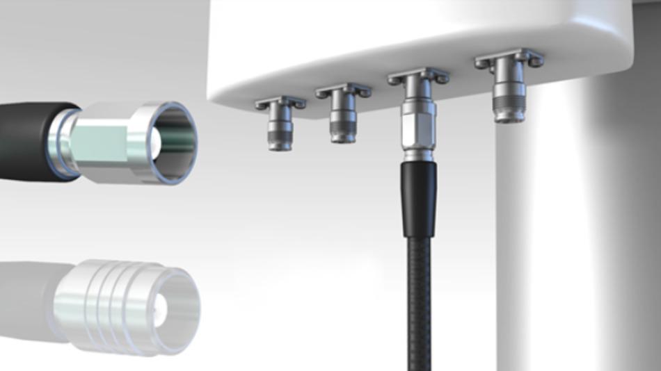 Der NEX10 von Huber+Suhner eignet sich für den Telekommunikationsmarkt. Börsig vertreibt die Produkte.