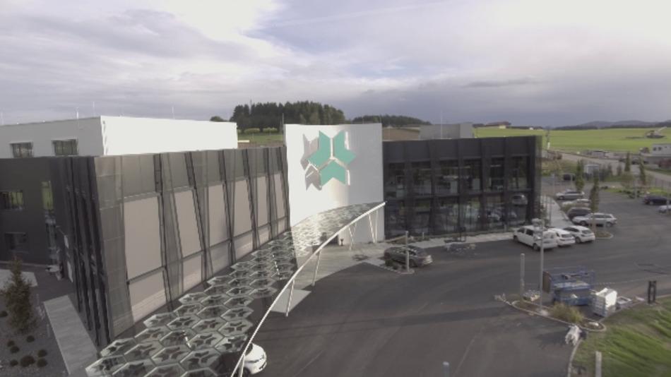 Der neue Firmensitz von Kreisel Electric in Rainbach im Mühlkreis.