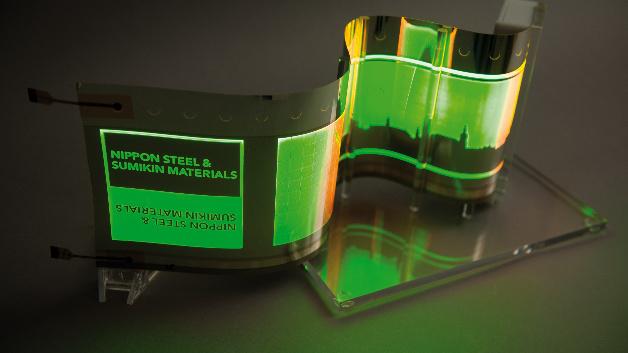 Bereits in 3 Jahren könnte es OLEDs auf Edelstahl in Autos als Blinker oder Rücklicht, in Fassadenverkleidungen oder in Displays geben.