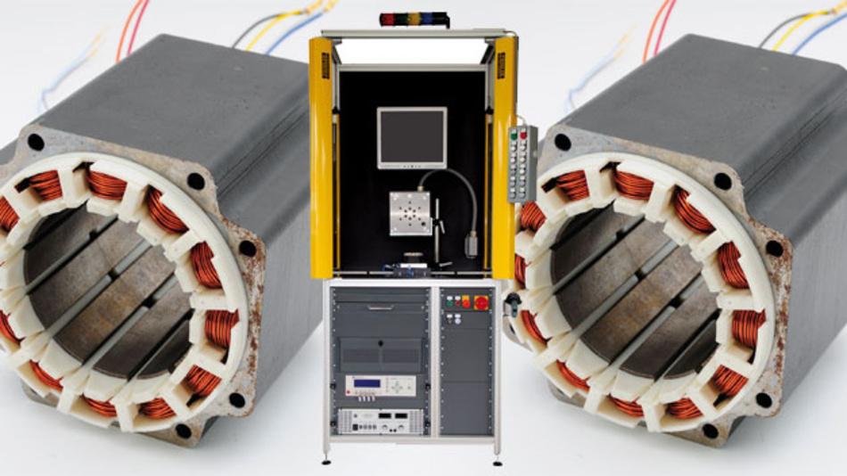Eines der Testsysteme von Deutronic: Ein Statortester.
