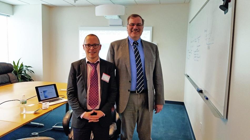 Ralf Higgelke traf Dr.Philip Lessner (rechts) in Ft.Lauderdale, Florida.