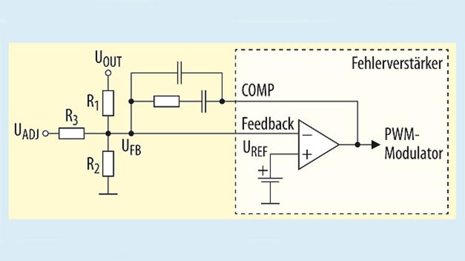 Bild 1. Prinzipschaltung des Fehlerverstärkers in einem typischen Schaltnetzteil.