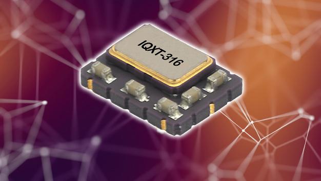 Eine Kurzzeitalterung von maximal ±20 ppb/pro Tag zeichnet IQDs VCTCXO IQXT-316 im 7 x 5 mm großen 6-Pad-Gehäuse aus.