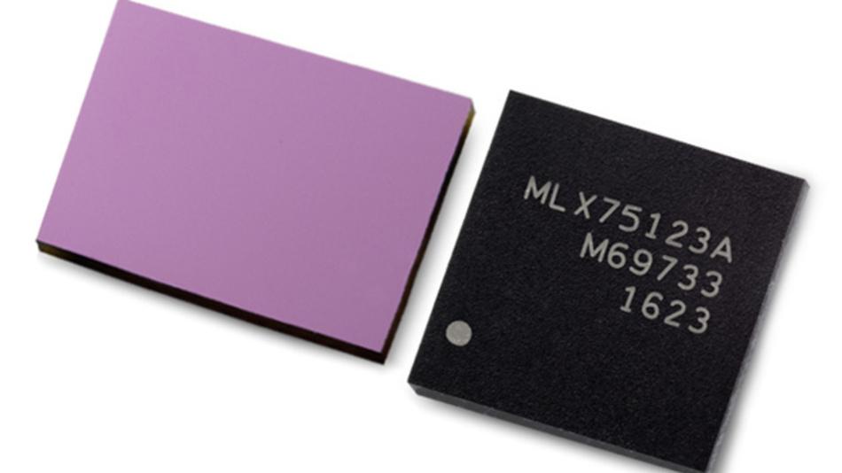 Um eine komplette TOF-IC-Lösung für die 3D-Bildverarbeitung handelt es sich beim Chipsatz aus TOF-Sensor MLX75023 und TOF-Companion-Chip MLX75123.