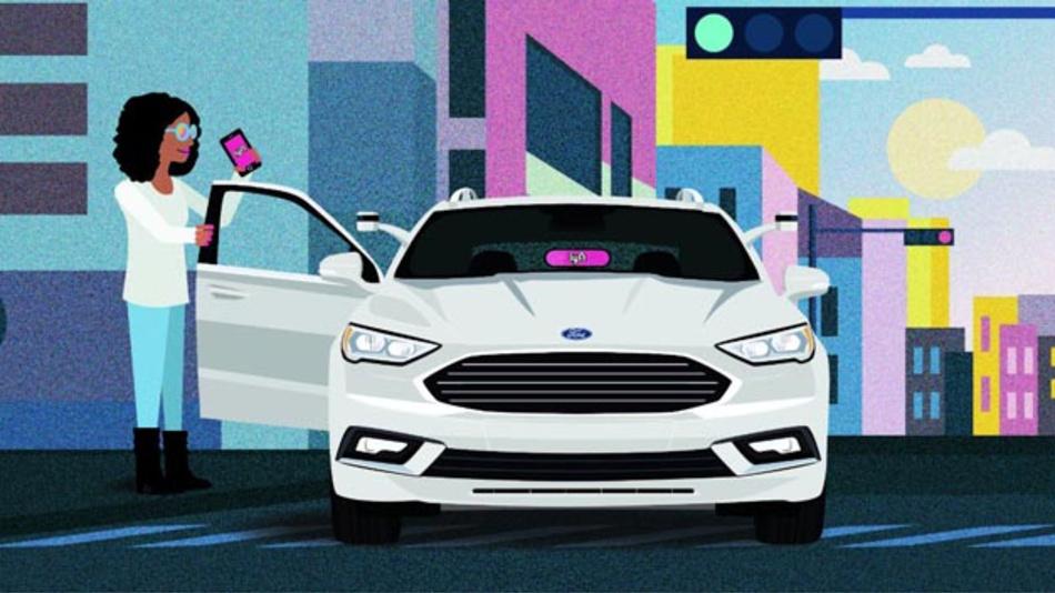 Die Partnerschaft von Ford und Lyft soll zur Massentauglichkeit von autonomen  Fahrzeugen beitragen.