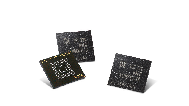 embedded-Universal-Flash-Storage (eUFS) von Samsung.