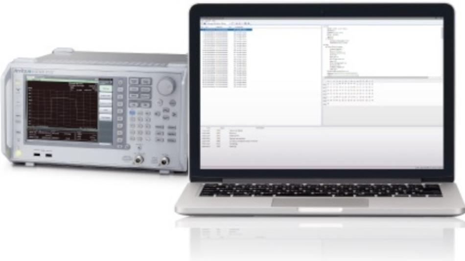 Analysesoftware MX727000A von Anritsu.