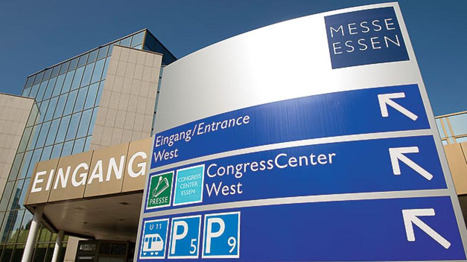 Bild 2. Die Messe findet in Halle 1 des Messezentrums Essen statt. Die Workshops werden im Kongresszentrum Süd abgehalten.