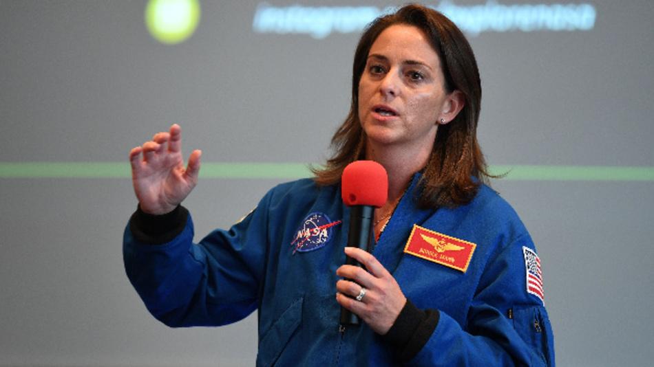 Die NASA Astronautin Nicole Mann könnte bald als erste Deutsche ins All fliegen.