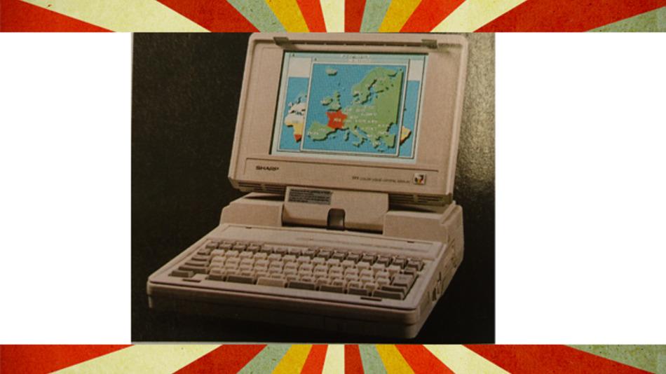 So sahen Laptops im Jahr 1990 aus....