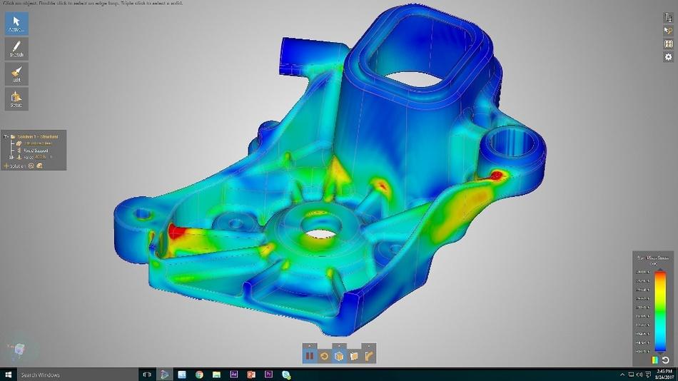 Mit Discovery Live erhalten Ingenieure in Sekunden wichtige Einblicke, selbst bei nicht ganz idealer Geometrie von komplexen strukturellen Bauteilen.