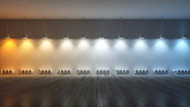 Lichtfarben von 1.000 bis 10.000 Kelvin