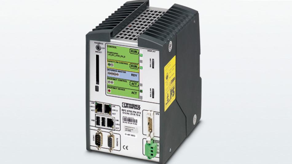 Bild 2: In die Hochleistungssteuerung RFC 470S PN 3TX ist eine Profisafe-Sicherheitssteuerung integriert.