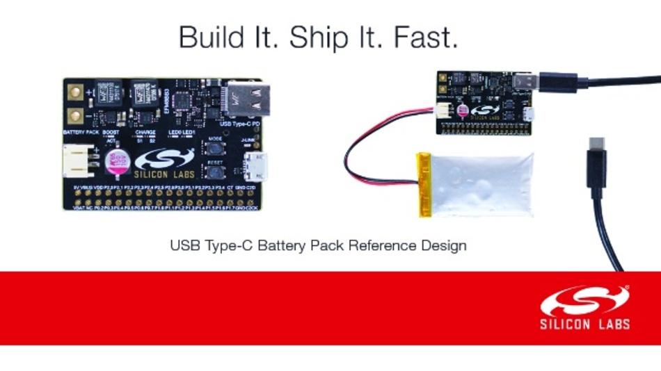 Referenz-Design vereinfacht die Entwicklung von über USB-Typ C aufladbaren Akkupacks
