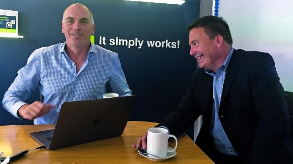 Rolf Segger mit D&E-Chefredakteur Frank Riemenschneider.
