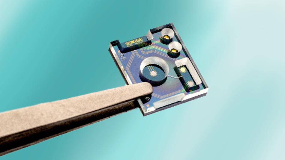 Prototype des Low-Power-Flüssigkeitssensors vom Imec.