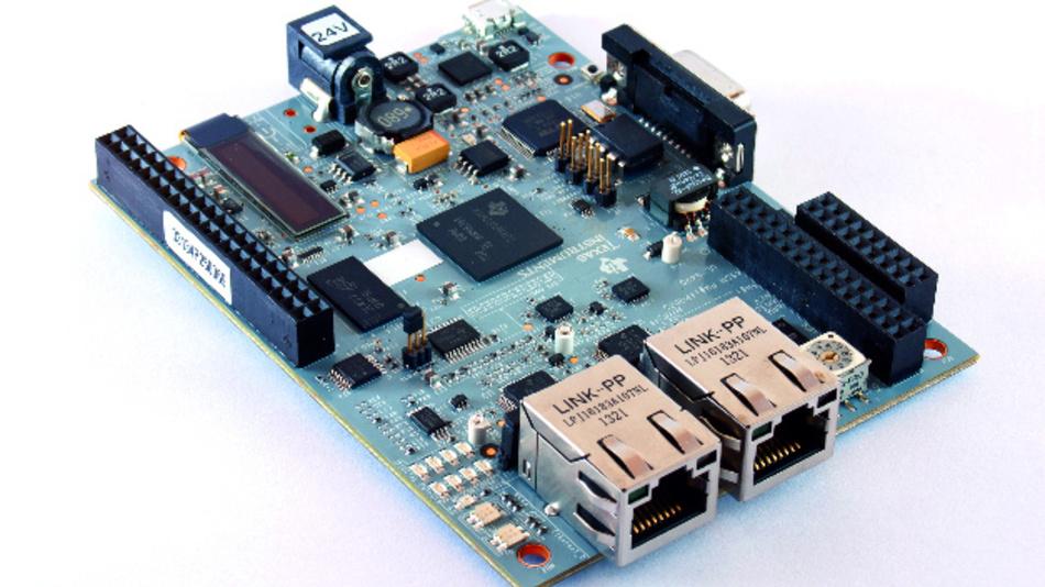 Das Referenzdesign für einen Vier-Achsen-CNC-Router mit 250-kHz-Regelung und PRU-ICSS auf SORTE-Basis.