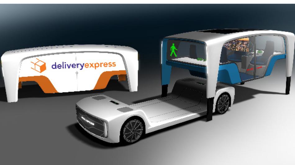 Bei dem Konzeptfahrzeug »Snap« trennt Rinspeed das Fahrgestell vom Aufbau.