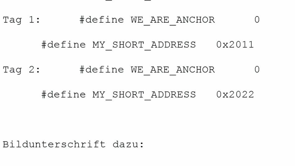 Listing 1: WE_ARE_ANCHOR und MY_SHORT_ADDRESS.