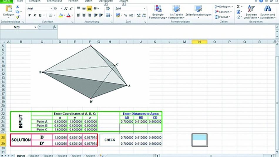 Bild 11: Eingabemaske Excel-Sheet.