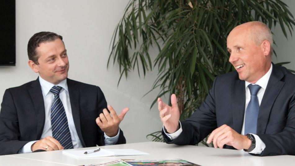 Thomas Foj, links  - Marco Giegerich  beide: Avnet Silica