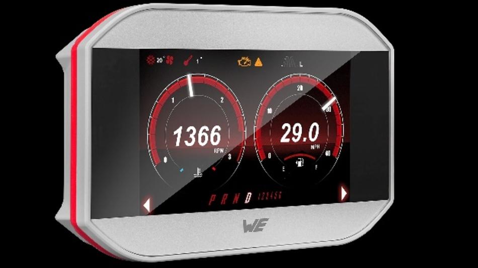 Das projektiv-kapazitive Touch-Display mit Optical Bonding verfügt über eine Lichtstärke von 500 cd/m²