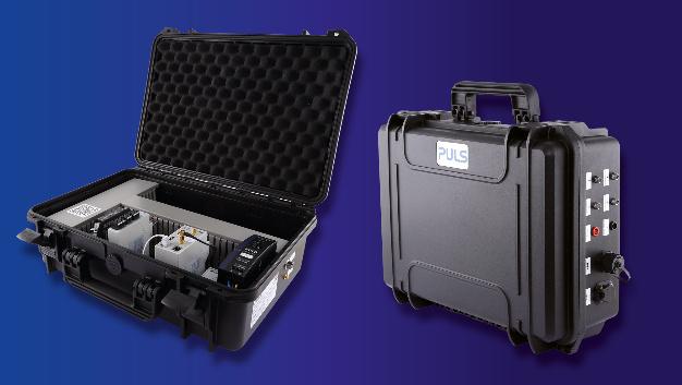 Die tragbare SmartFab Box mit integrierter Diagnosetechnik verfügt über Schnittstellen zum Anschluss verschiedener Sensoren.