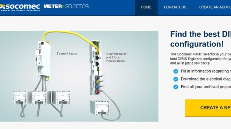 Der Meter Selector ist das Konfigurations- und Dimensionierungstool von Socomec für Energiemesslösungen bis zum Einbau in einen Schaltschrank.