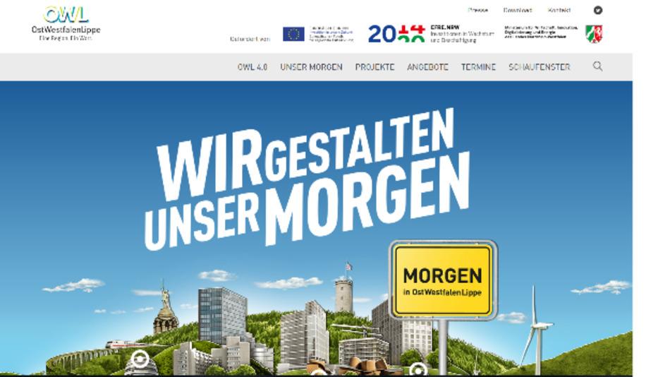 OWL 4.0: Bereits seit Mai läuft unter dem Motto 'Wir gestalten unser Morgen' eine Kommunikationskampagne der OWL GmbH zusammen mit Projektpartnern.