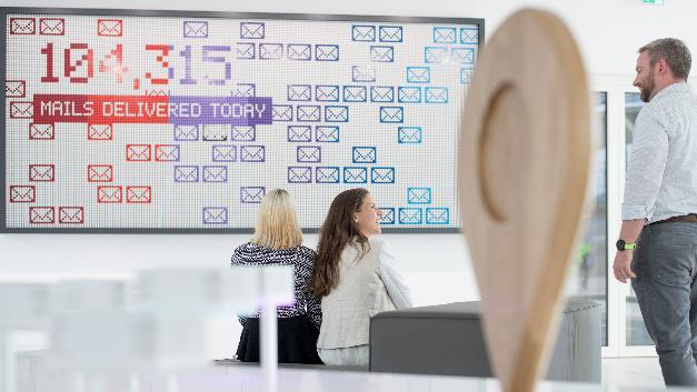 Foyer im neuen Bosch IT-Campus.
