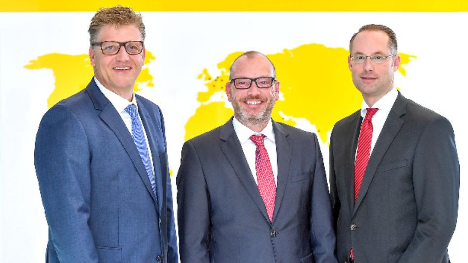 Christian Pauli, Guido Frohnhaus und Christian Wolf (v.l.) bilden ab März die Geschäftsführung der Turck Holding.