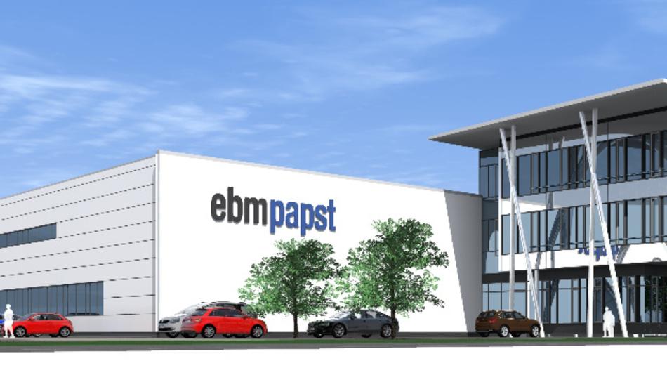 Am Standort in Lauf baut ebm-papst die Fertigung von Planeten-, Stirnrad- und Winkelgetrieben mit zwei Produktionshallen aus.