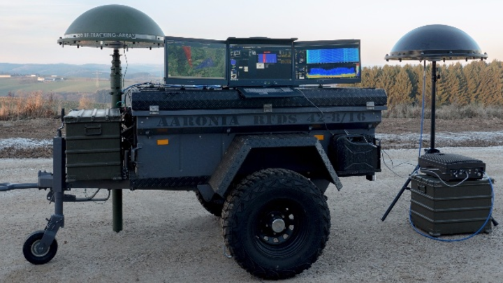 Mobiles Drohnendetektionssystem von Aaronia