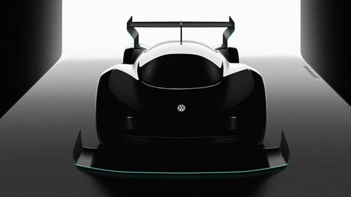Erster Ausblick auf das Elektro-Rennfahrzeug von Volkswagen, das 2018 zum Pikes-Peak-Rennen starten soll.