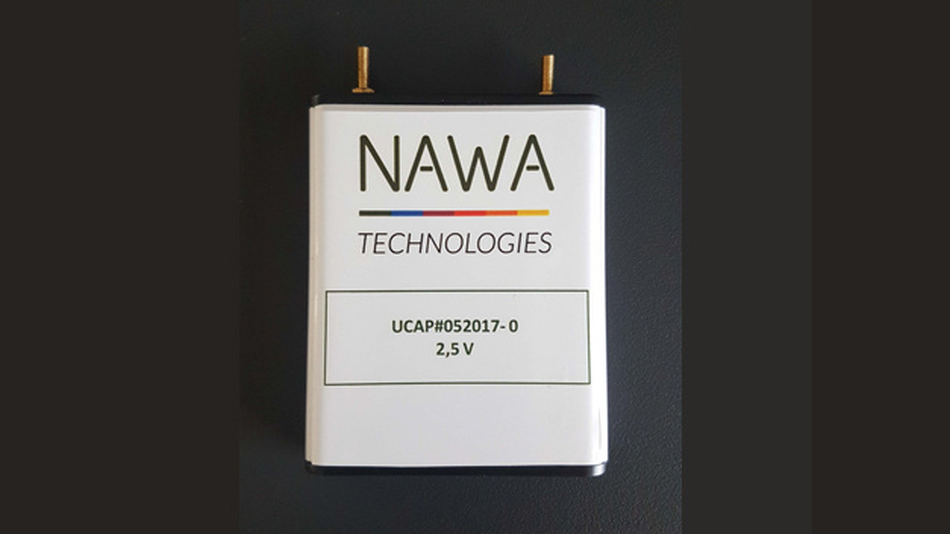 Ihre »Ultra Fast Carbon Battery« positioniert Nawa Technologies in der Lücke zwischen herkömmlichen Ultrakondensatoren und Lithium-Ionen-Batterien.