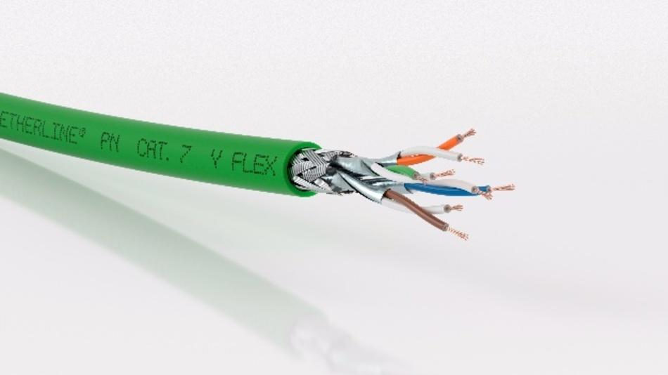 Die Etherline PN Cat.7-Leitungen eignen sich für den Einsatz überall dort, wo große Datenmengen übermittelt werden.