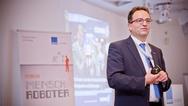 Prof. Dr.-Ing. Markus Glück beim 'Forum Mensch Roboter 2017'