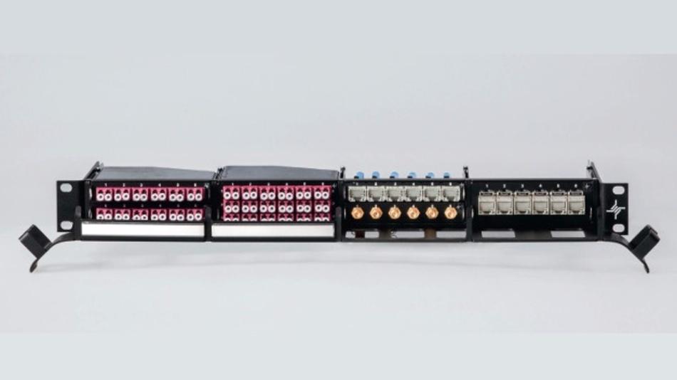 Das modulare Verteilsystem HD3 kann wahlweise mit Modulen für Glasfaser-, Twisted-Pair- und Koaxleitungen bestückt werden.