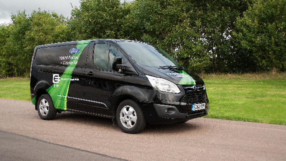 Ford Transit Custom Plug-In Hybrid (PHEV) für das Modellprojekt zur Verbesserung der Luftqualität in London.